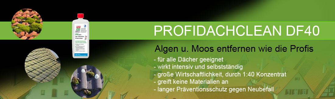Hervorragend PROFIDACHCLEAN DF40 Dachreiniger Algen- Moosentferner LS01